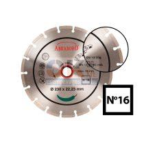 Univerzális gyémánttárcsa D150×22,2 mm építőipari használatra, tégla, beton stb…  (715000016)