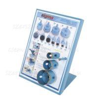 Sigma gyémánt lyukfúró vizes fúráshoz, fúrógéphez szegmenses 4db/ 8-25-40-60 mm  (cs095c)